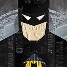 Batman The Dark Knight Recycled License Plate Art by designturnpike