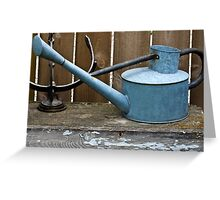 Vintage Watering Can In The Garden Greeting Card