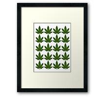 Happy Weed Pattern Framed Print