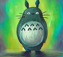 Green Totoro by Katie Clark