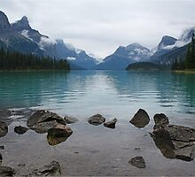 Still times at Maligne Lake by Funkylikeabee