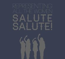 Salute Typograhy by bekahtolson