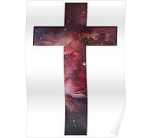 Galaxy Cross Poster