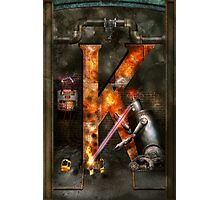 Steampunk - Alphabet - K is for Killer Robots Photographic Print