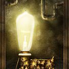 Steampunk - Alphabet - L is for Light Bulb by Mike  Savad