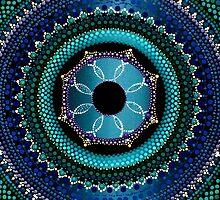 Sky Blue Mandala by Kirsty Faith Russell