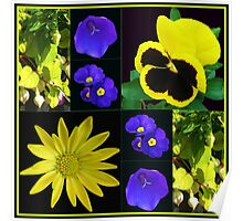 Bright and Beautiful Floral Collage Poster
