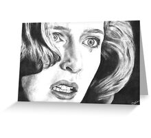 Dana Scully- Pusher (with tear) Greeting Card
