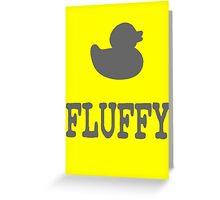 Fluffy Duck Greeting Card