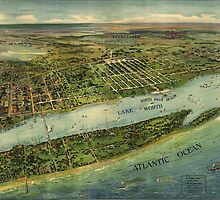Vintage Pictorial Map of West Palm Beach (1915) by BravuraMedia