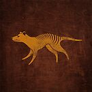 Thylacine running by Richard Morden