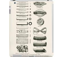 Retro cookbook pasta illustration iPad Case/Skin