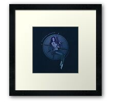 Diving Belle  Framed Print