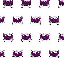 Guns and Roses Purple (Pattern) by Adamzworld
