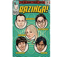 BAZINGA! Comic book Cover Poster Photographic Print