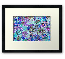 abstract colored roses stones Framed Print