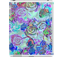 abstract colored roses stones iPad Case/Skin