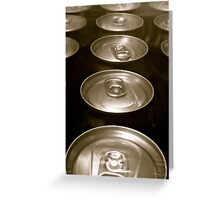 TIN CANS Greeting Card