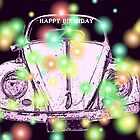 "VW Beetle ""Happy Birthday"" Card by Sandy1949"
