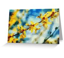 Wild Orchid Blooms Greeting Card