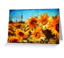 Sunflowers Van Gogh Style Greeting Card