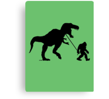 Gone Squatchin with T-rex Canvas Print