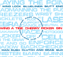 Ice Hockey Rink Typographic  Sticker