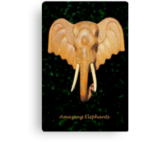 Thai Elephant tee Canvas Print