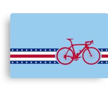 Bike Stripes USA Canvas Print