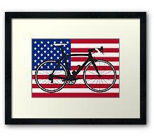 Bike Flag USA (Big - Highlight) Framed Print