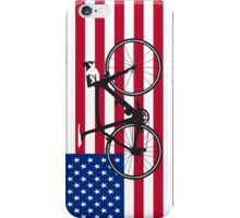 Bike Flag USA (Big - Highlight) iPhone Case/Skin