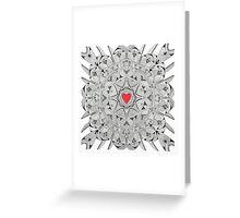 Sacred heart Greeting Card