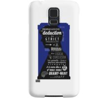 Wholock - A Study in Deduction Samsung Galaxy Case/Skin