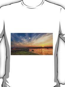 Newtown Quay Sunset Pano T-Shirt