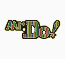 Mr. Do Logo - Full Colour. Perfected Pixellation! by CookieDude