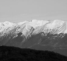mountains with snow in winter by spetenfia