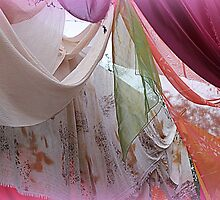 drapery of colored silks by spetenfia