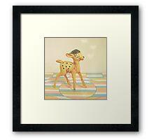Dancing Deer Framed Print