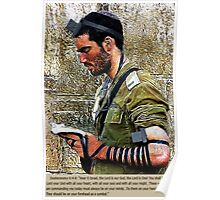 ✌☮ TEFILLIN SOLDIER @ THE WESTERN WALL(WAILING WALL)✌☮  Poster