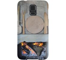 old fireplace with fire Samsung Galaxy Case/Skin