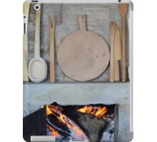 old fireplace with fire iPad Case/Skin