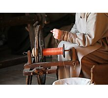 spinning wool Photographic Print