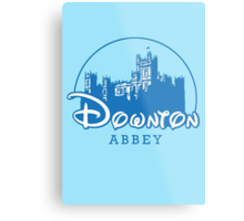 The Wonderful World of Downton Abbey (Downton Abbey + Disney logo mashup) Metal Print
