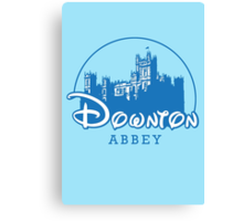The Wonderful World of Downton Abbey (Downton Abbey + Disney logo mashup) Canvas Print