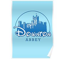 The Wonderful World of Downton Abbey (Downton Abbey + Disney logo mashup) Poster