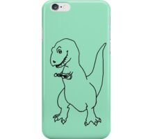 T-rex Playing an Ukulele iPhone Case/Skin