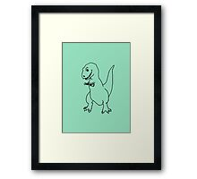 T-rex Playing an Ukulele Framed Print