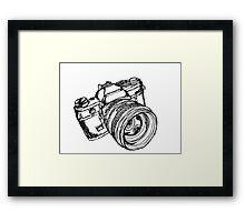 Vintage 35mm SLR Camera Design Framed Print