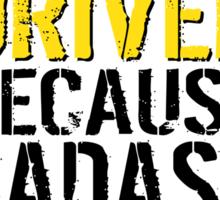 Funny 'Taxi Driver Because Badass Isn't an official Job Title' T-Shirt Sticker