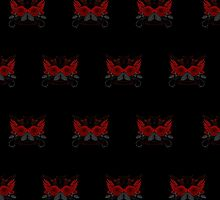 Guns and Roses Red (Pattern 2) by Adamzworld